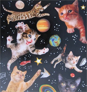 Space Cats #3, 2018