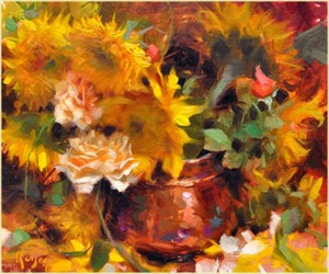Sunflowers and Copper