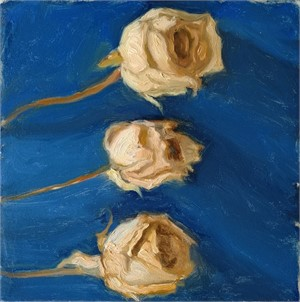 Still Life with Dried Roses (Blue), 2018