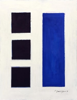 No Significance #12 (blue squares  / white background), 2017