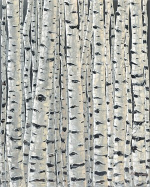 Pewter Aspens by Jennifer Vranes
