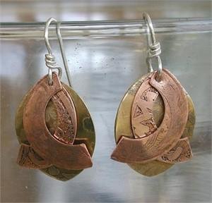 Oval / Wing Earrings
