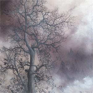 Mist Shrouded Tree