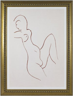 Nude w/Leg & Arm Up (from Florilege des Amours de Ronsard Portfolio), 2007