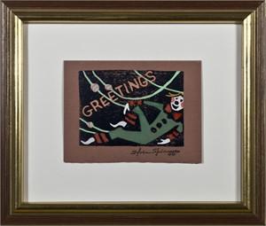 Greetings - Reclining Elf, c. 1950