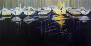 Yellow Boat At Dockside