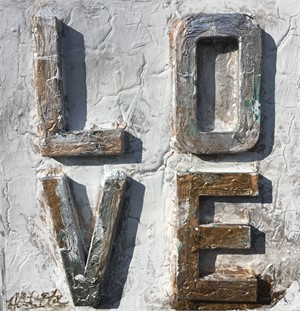 Love Sculpture Silver Gold, 2017