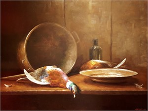 Pheasants & Copper Pot