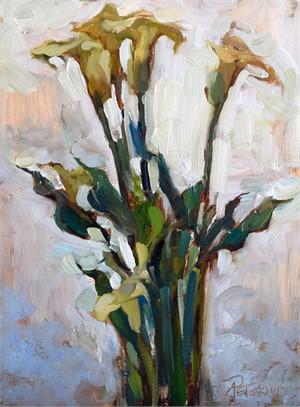Backlit Calla Lilies