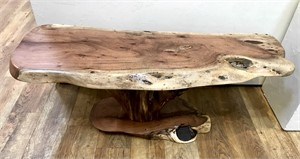 La Mesa de Rancho - Mesquite coffee table w mesquite base.