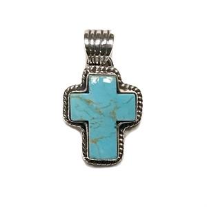 Pendant - Cross, Turquoise