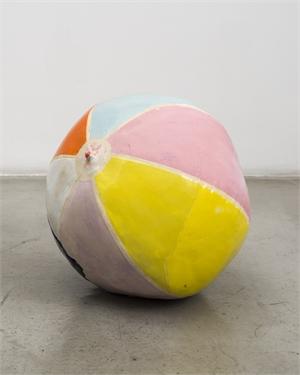 Deflating Beach Ball II, 2016, by Nevine Mahmoud by Bicoastal