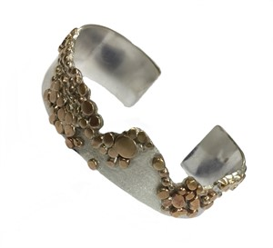 Bracelet - Sterling Silver & Gold Alloy Cuff