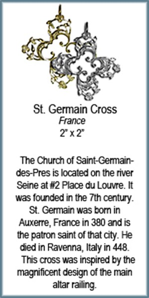 Pendant - Bronze Cross of St Germain 7571, 2019