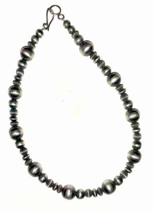 "Necklace - 16"" Assorted Sterling Silver Beads"
