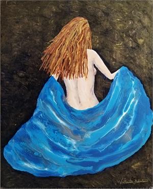 Natural Beauty - Fluid Acrylic on Canvas, 2020