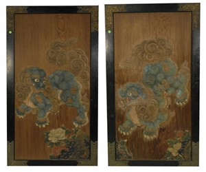 PAIR OF CHINESE TEMPLE DOORS