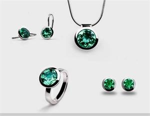 Earrings - Sterling Silver & Green Quartz JVE3183GQ