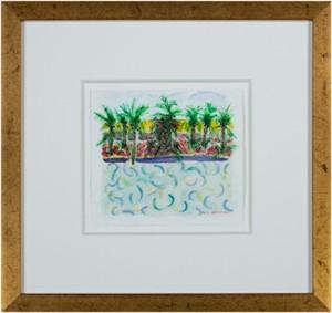 Homage to David Hockney:  Pool Variation #3, 2007