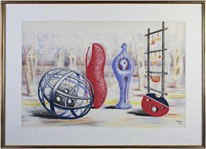Sculptural Objects Ref.  Henry Moore 1931-1972 by Gerald Cramer Cat. 7, 1949