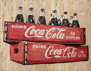 Coca-Cola in Bottles by Plaid Columns