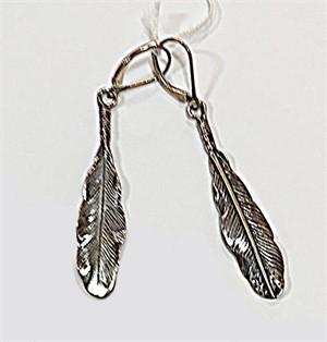 Earrings - Sterling Silver Feathers 7283, 2019