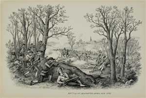 Battle of Lexington, April 19, 1775, c1890