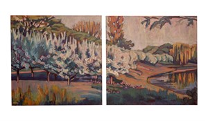 Botanic Farms Diptych by Nina Weiss