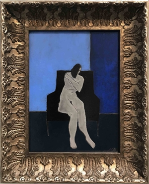 Nude in a Blue Room , 2019