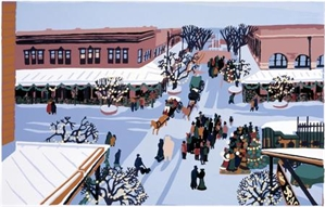 Old Market Winter Scene, 2019