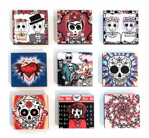 "Magnet - 2"" Day of the Dead Assorted"