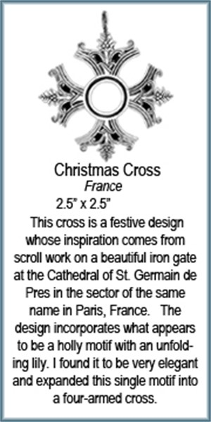Pendant - Silver Christmas Cross 9205, 2019