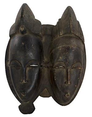 Baule Double Face Ceremonial Dance Mask Ivory Coast, c.1900