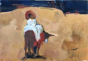 Rider on Donkey, c. 1965