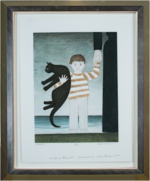The Walk ed. 67/75 Inscribed to David Barnett-My Best Wishes Will Barnet, 2001