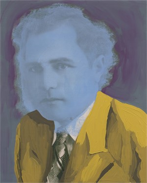 Untitled (Blue Man in Yellow Suit)