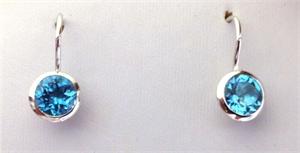 Earrings - Sterling Silver & Blue Topaz E3183BT
