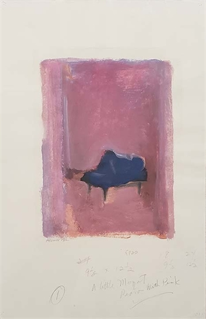 A Little Mozart Piano with Pink, 1983