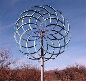 "Wind Ripples 12 - 60"" Natural Patina 60""x12""x138"""