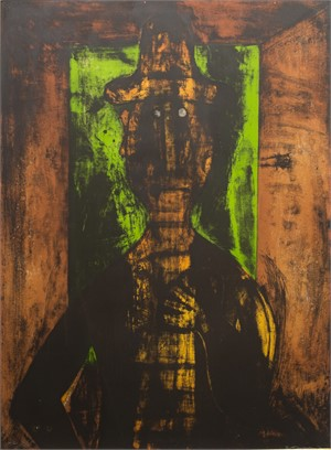 Hombre en Fondo Verde HC (14/25), 1980