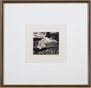 Reclining Nude w/Black Stocking (11/25), 1975