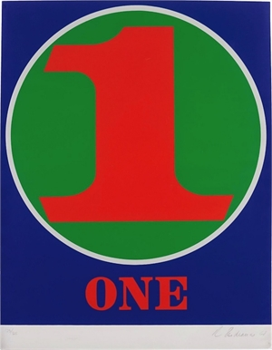 One, from Numbers portfolio, 1968