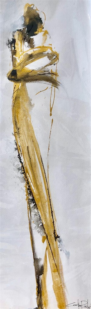 Tall Figure in Gold & Black , 2019