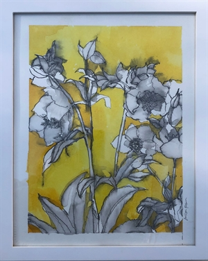 Hellebores on Yellow, 2020