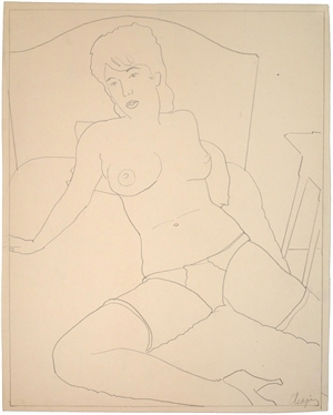 Nude with Headboard and Nightstand, 1960s