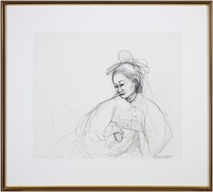 "Original sketch for ""Tempest"" (woman), 1999"