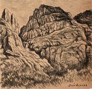 Untitled (Rock Formation Landscape), c. 1950s