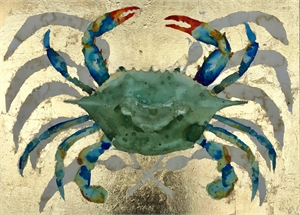 Golden Blue Crab I