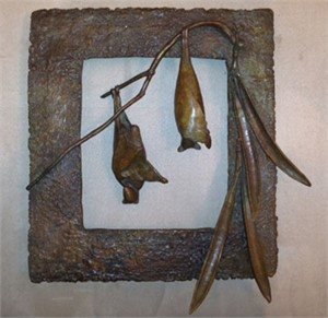 Frame with 2 Bats and Pods