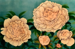 Blushing Peonies by Diane Lawrence